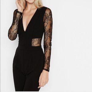 Express Black Lace Jumpsuit Size 0